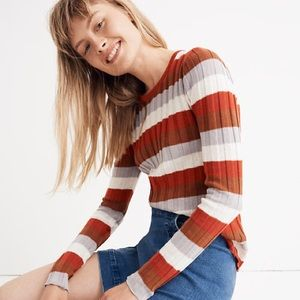 Madewell Clarkwell Pullover Sweater Stripe M NWT